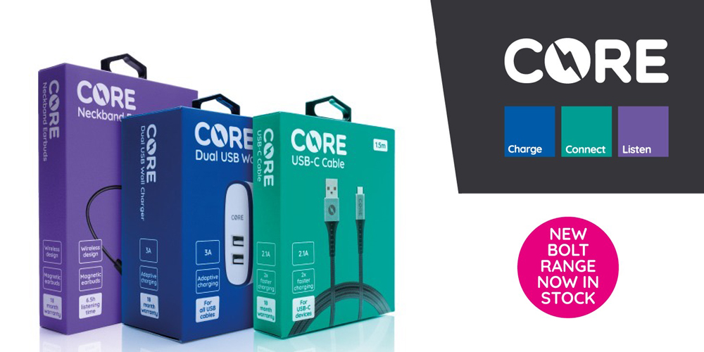 Core Bolt - range of phone Accessories from MPRC